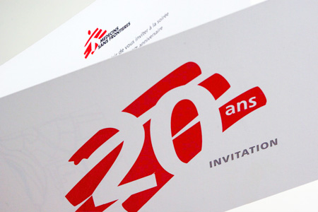 20 ans - 20 years MSF luxembourg logo design & invitation